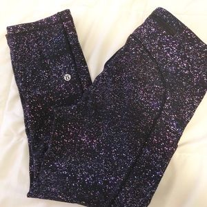 "LULULEMON SPEED UP CROP 21"" LEGGINGS SIZE 4"